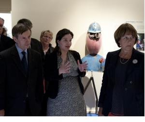 L'inauguration de l'exposition. Crédit photo : Ville d'Alençon.